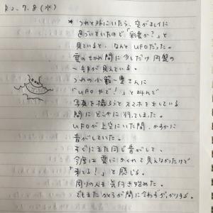 7月8日の夢 「UFO」「文字」「リュック」