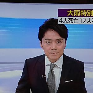 NHK高瀬アナ、台風19号報道で落ち着いたアナウンス。