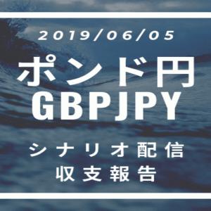 2019/06/05 ポンド円シナリオ(環境認識)&収支報告【FX】