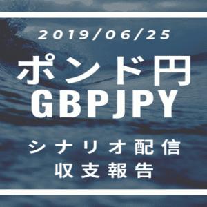 2019/06/25 ポンド円シナリオ&収支報告【FX】