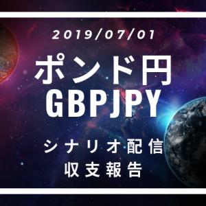 2019/07/01 ポンド円シナリオ&収支報告【FX】