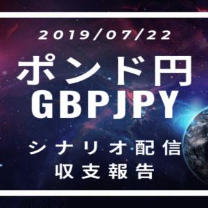 2019/07/22 ポンド円シナリオ&収支報告【FX】