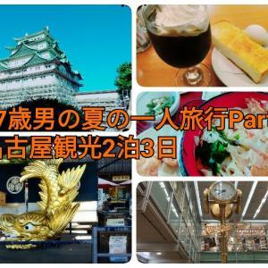 27歳男の夏の一人旅行Part5名古屋に向かい名古屋城や大須観音を観光(1人旅行まとめ)