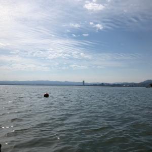 琵琶湖で癒される