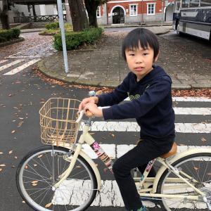 雨上がりの自転車練習