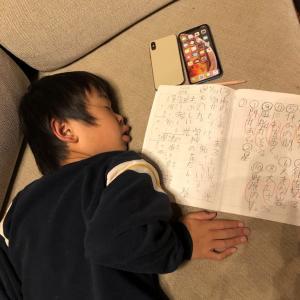 【わが家の珍事件】 長男ダイキの夜・・・ 宿題を終えた結末