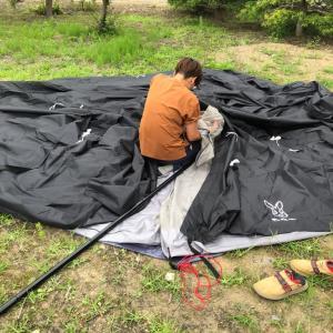 テント張りの練習