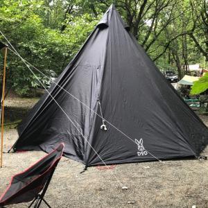 テントがたったら•••雨