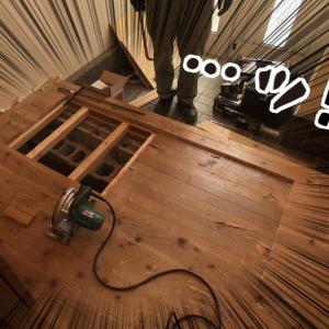 床DIY①ー既存フローリングの撤去