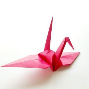 折り紙の鶴 (Crane) 外国人との交流に役立ちます!