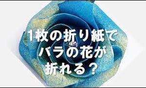 1枚の折り紙で1輪のバラの花が折れる!