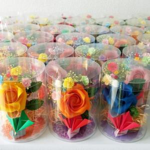 【折り紙のバラ】患者様へ「お誕生会・ご退院プレゼント」を追加受注!