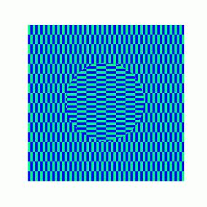 [matplotlibで錯視] 13. オオウチ錯視