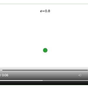 [matplotlib animation] 81.バウンドするボール