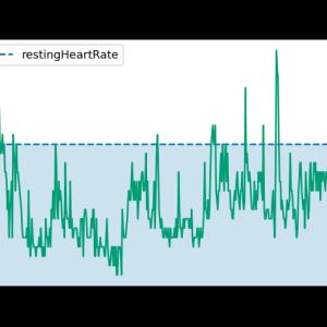 [fitbit] 4.Fitbit APIで睡眠時の心拍数データを取得してmatplotlibで表示