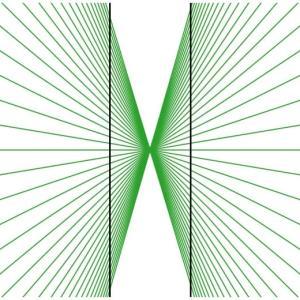 [matplotlibで錯視] 15. ヘリング錯視