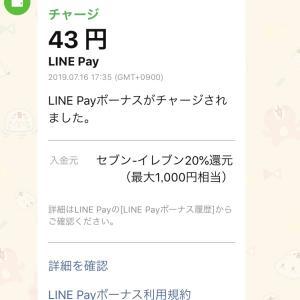 【LINE Payで錬金術】セブンイレブン20%還元キャンペーン中!