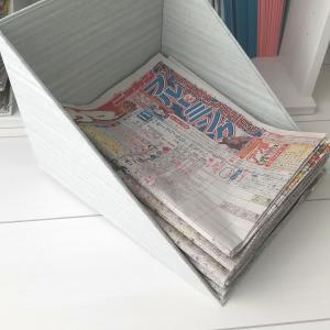 新聞紙トレーをカルトナージュで手作り