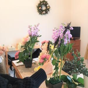 レッスンレポ~ビフォーアフター オシャレカフェに飾りたい♡応用コースアレンジレッスン