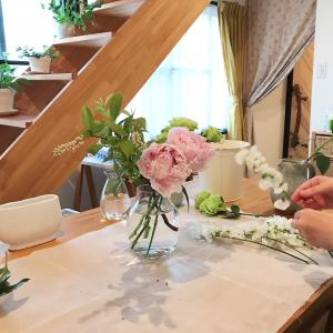 レッスンレポ~暮らしの花活け2レッスン♪初夏の花を楽しもう