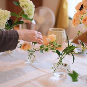 レッスンレポ~食卓に飾ろう♪花瓶活け「暮らしの花活けコース」