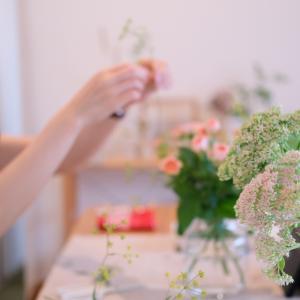 レッスンレポ~何を見せる?どこを見せる?「暮らしの花活けコース」2レッスン♪