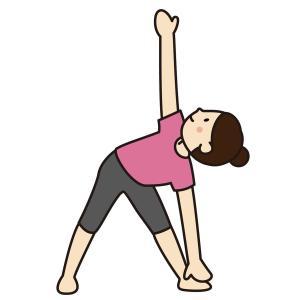 ヨガの三角のポーズで膝が痛い:効果とコツについて解説(首が痛い)