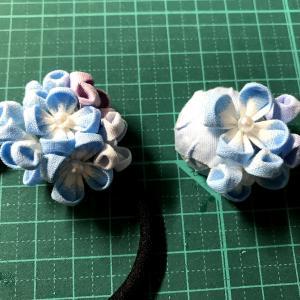 紫陽花のヘアゴム