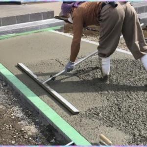 外構工事/土間コンクリート/スタンプコンクリート施工例/デザインガーデン株式会社★