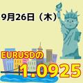 EURUSDの1.0925は超重要!!