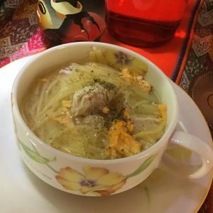 ペルーのスープ(風邪をひいたときに飲むスープ)を作ったよ!