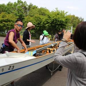 愛知池 漕艇場でレガッタ体験