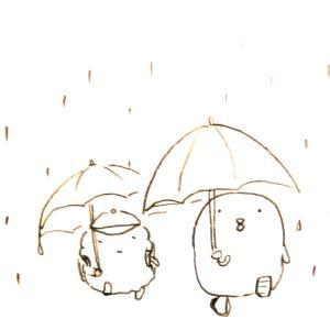 心に雨が降ったり止んだり