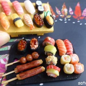 海外風(フランス風)のミニチュア寿司の作り方のヒント♪材料は粘土と絵の具のみ!