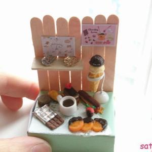 一応子供向け・・・マッチ箱で作るミニチュアディスプレイ♪チョコレートショップ