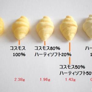 【層の検証】樹脂粘土と軽量粘土の比率を変えて「ミニチュア クロワッサン」を作る♪完成度が全然違う