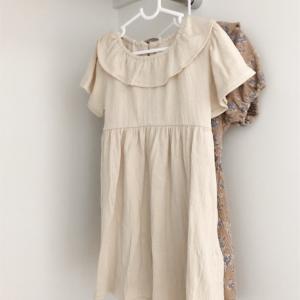 【子供服バースデイ購入品】1枚でサラッとお洒落に♡女の子夏用ワンピース