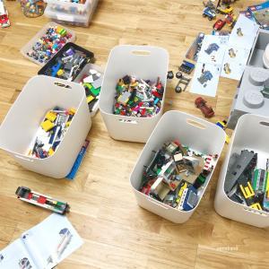 【おもちゃ収納】増え続けるレゴの選別と整理収納をしました!