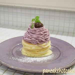 ANGIEアンジーのモンブランパンケーキの季節がやってきた!紫芋モンブランクリームが絶品(神戸/南京町)