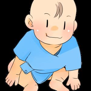 可愛い座っている赤ちゃんのイラスト素材です。男の子・女の子・モノクロの差分あり。