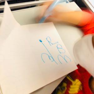 4歳5ヶ月、アルファベットへの興味