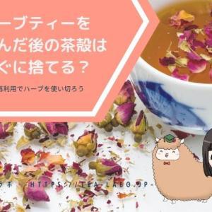 ハーブティーを飲んだ後の茶殻はすぐに捨てる?再利用でハーブを使い切ろう