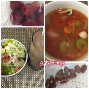 低糖質高たんぱくダイエット 食事例 17日目