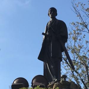 関門海峡を見下ろす高杉晋作~下関市・日和山公園~