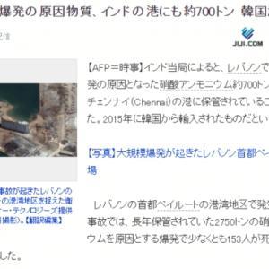 レバノンの爆発事件を日本のマスコミが奇妙な方法で関連付けようとしていますね[韓国ネット民]ああ、だからモーリシャスで流出した石油は日本産ではないから責任はないと言いたいのか?