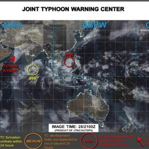 続報!台風のたまご。熱帯低気圧が台風21号となりそうです。気になる米軍予報は?