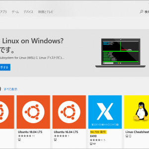 Windows Subsystem for Linuxを導入