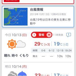 台風から一夜明け