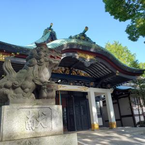 王子神社 御朱印とかつらとイチョウの木