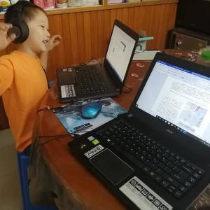 オンライン授業を小学一年生が受けてみた(ミャンマー)